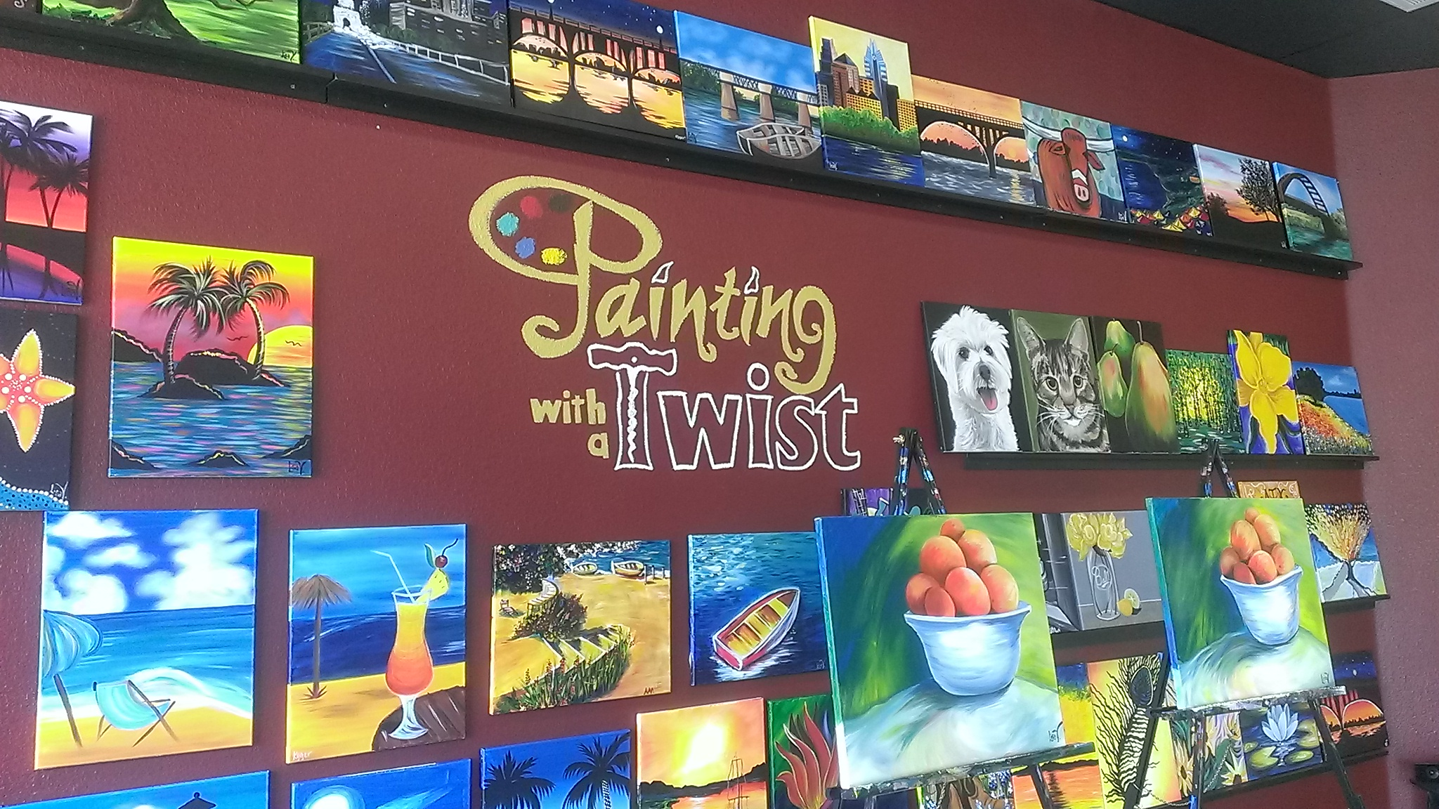 With Painting a twist